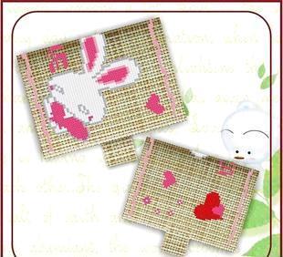 包邮纯365bet网上娱乐_365bet y亚洲_365bet体育在线导航成品十字绣卡包 love兔