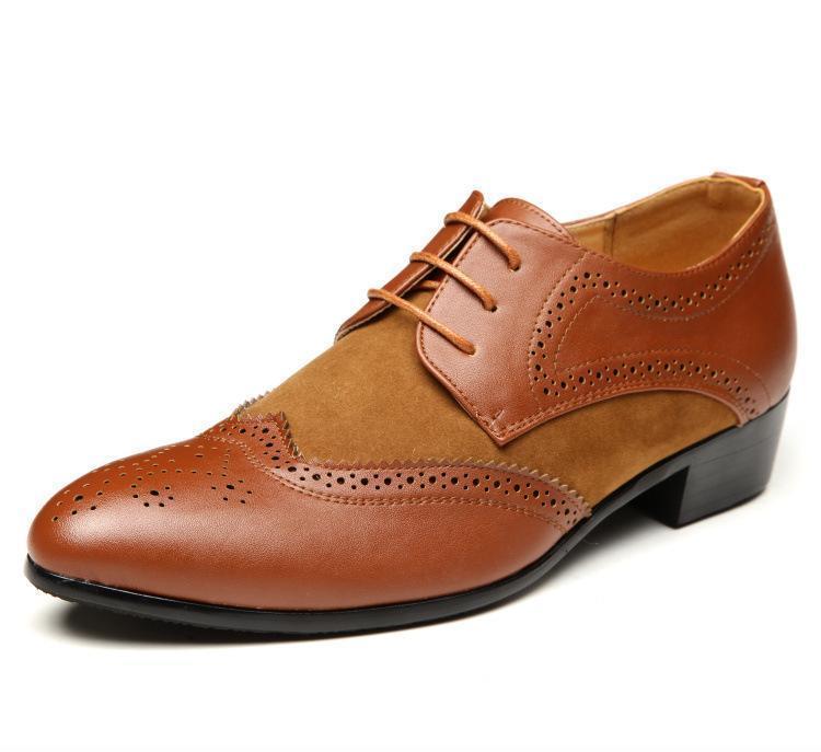 供应2014新款春季尖头皮鞋韩版温州男式商务正装皮鞋男鞋真皮