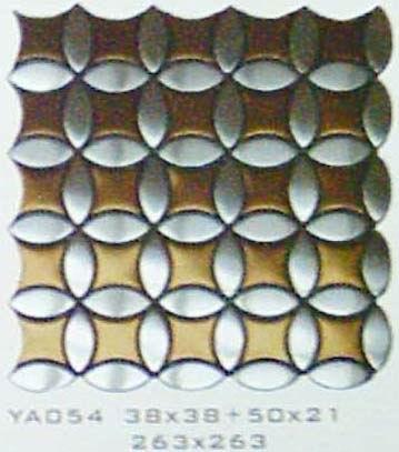 金属马赛克--不锈钢马赛克 (YA-054)