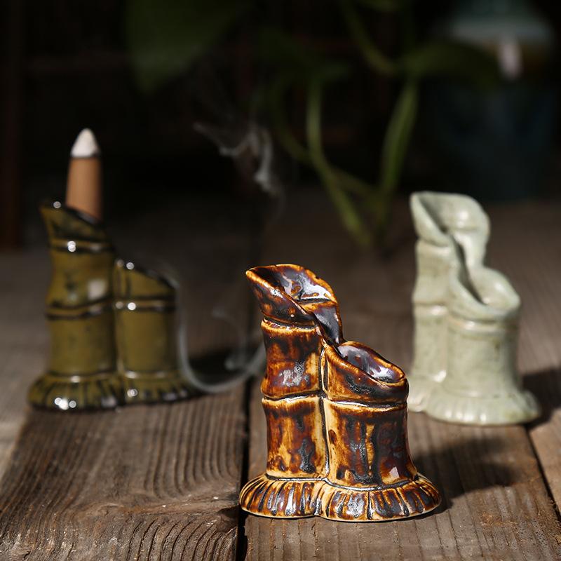 小竹节倒流香炉 茶道香炉 烟倒流熏香炉宝塔香炉 陶瓷香炉批发