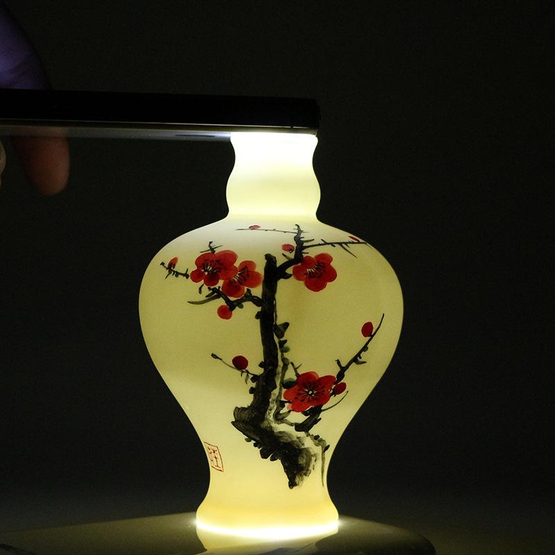 手绘陶瓷花插瓷器小花瓶水培花插落地小创意家居花器茶道禅意摆件