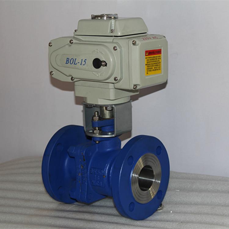 厂家直销电动法兰球阀电动调节铸钢高温球阀q941f-25c电动阀图片
