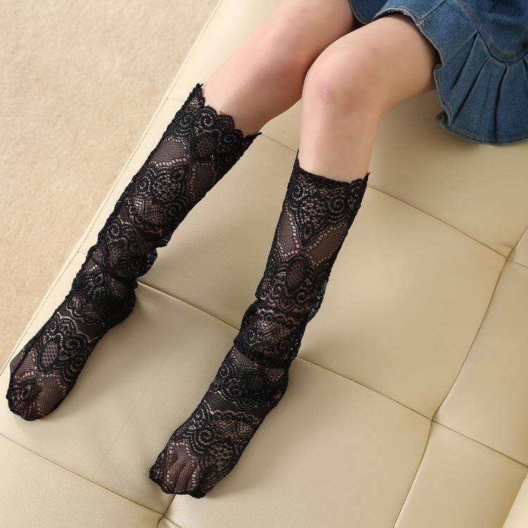 花边堆堆袜蕾丝中筒袜时尚韩版春秋袜子2017新款女流行袜子