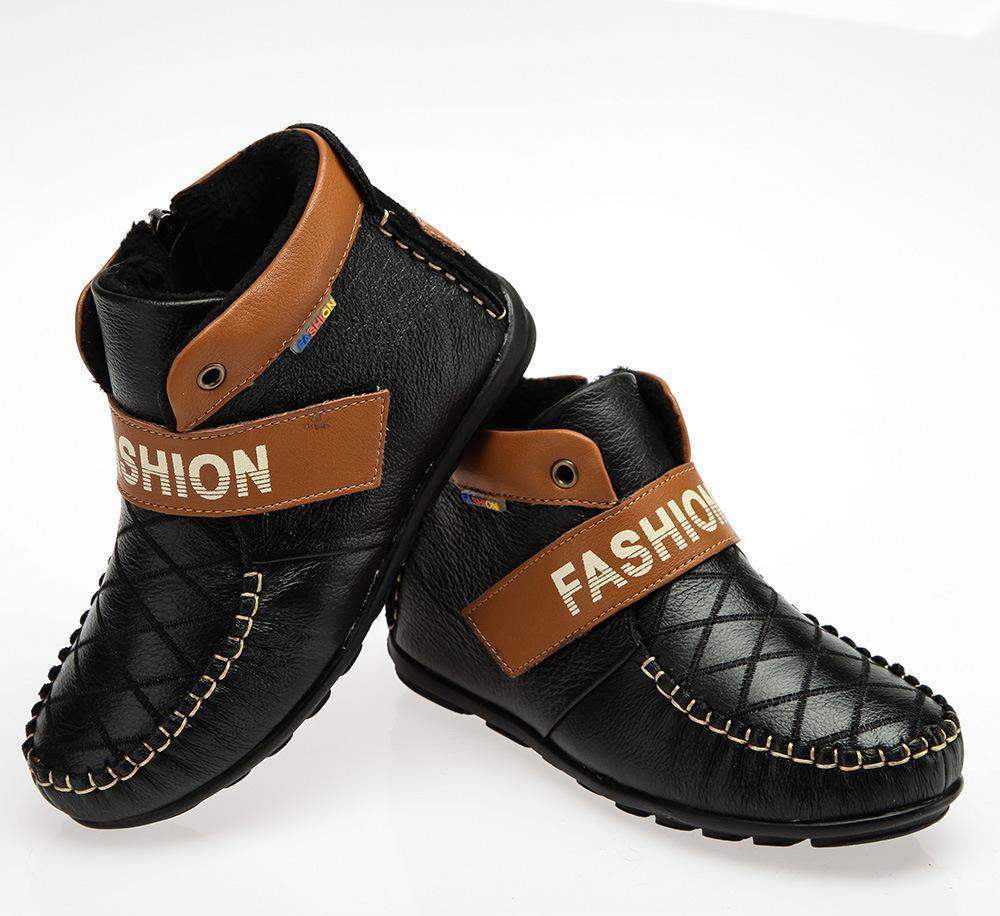 童鞋厂家直销批发 中大童棉鞋 男 真皮童鞋 温州品牌童鞋冬季新款
