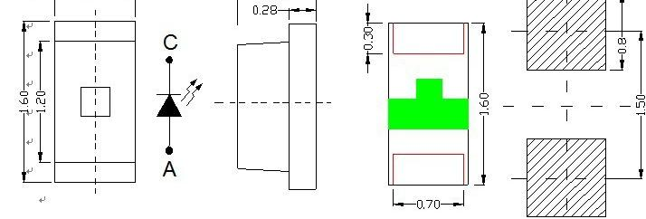 0603 led led发光二极 led封装 白 0.8t