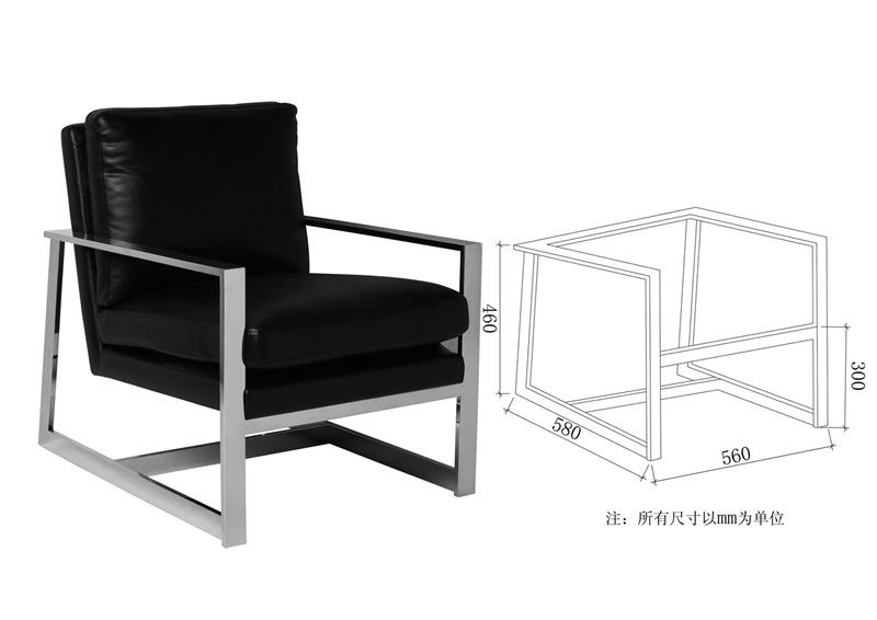 东莞五金定制 客厅餐厅不锈钢拉丝休闲椅座架 软包椅子架 办公椅图片