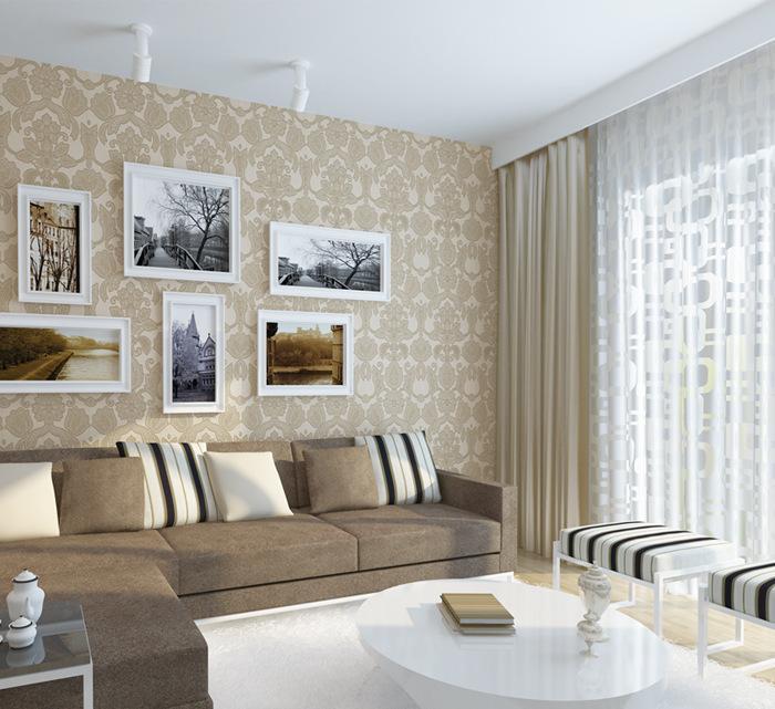无缝墙布欧式现代简约风格壁布客厅卧室电视背景墙特价墙纸无纺布0图片