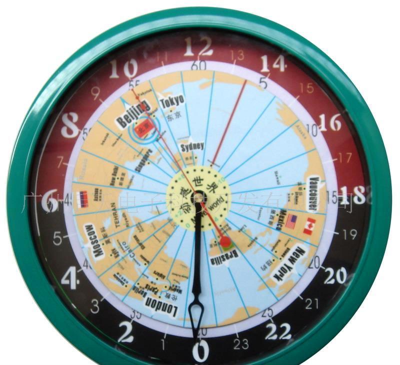 圆形世界时时钟(专利产品)
