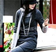 批发供应 S532 韩国风情上衣裙两件套配双层围巾