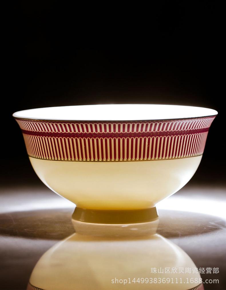 【厂家直销】景德镇陶瓷器餐具56头真骨瓷餐具陶瓷碗碟套礼品批发0