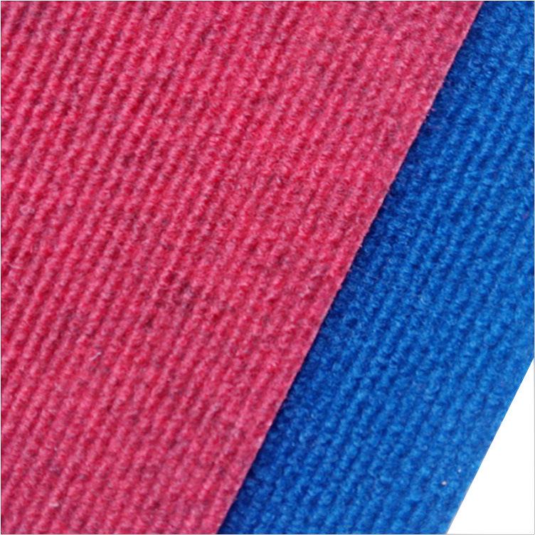 【型号:t06】枣红色条纹地毯 复合衫底 铺地材料 地板保护垫 2m宽