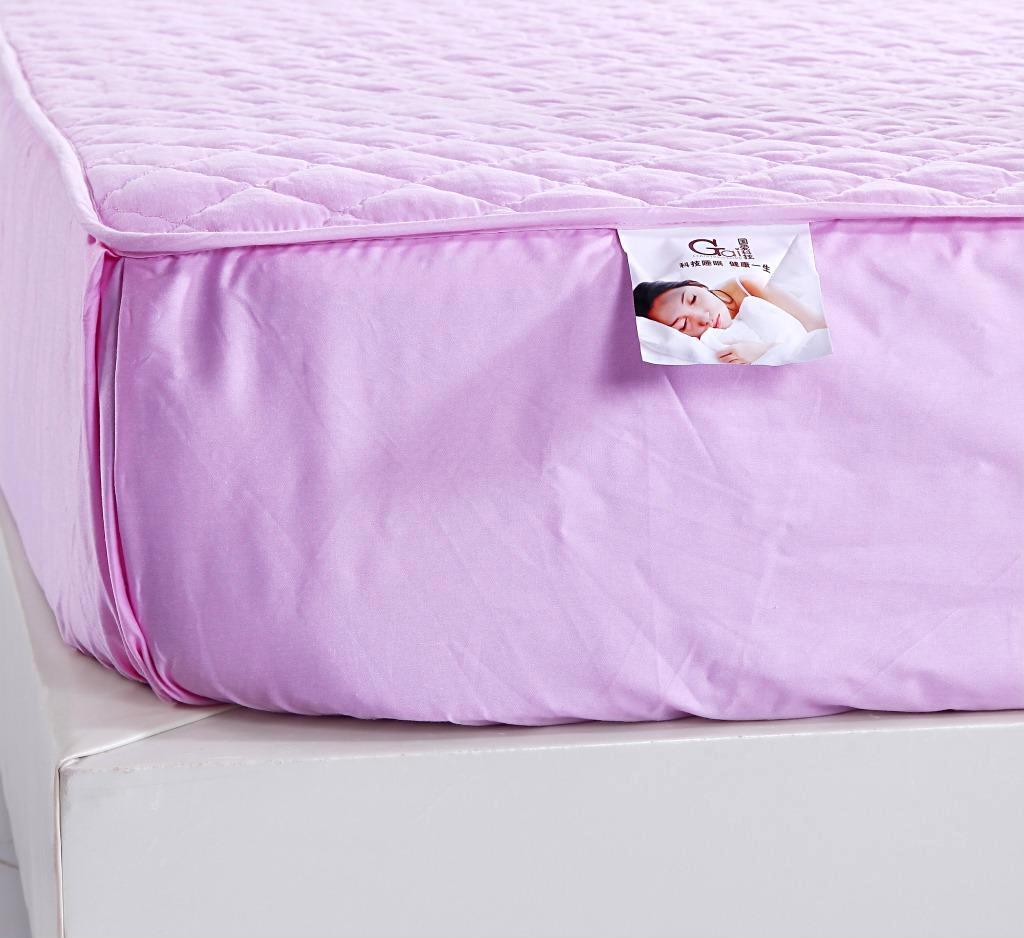 供应 秋冬新款夹棉床笠式床垫 全棉纯色床笠 防滑床护垫床笠床罩床裙