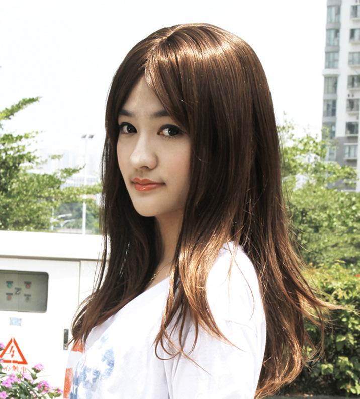 娇滴假发女中分刘海蓬松修脸中分长卷发假发甜美可爱型 厂家直销图片