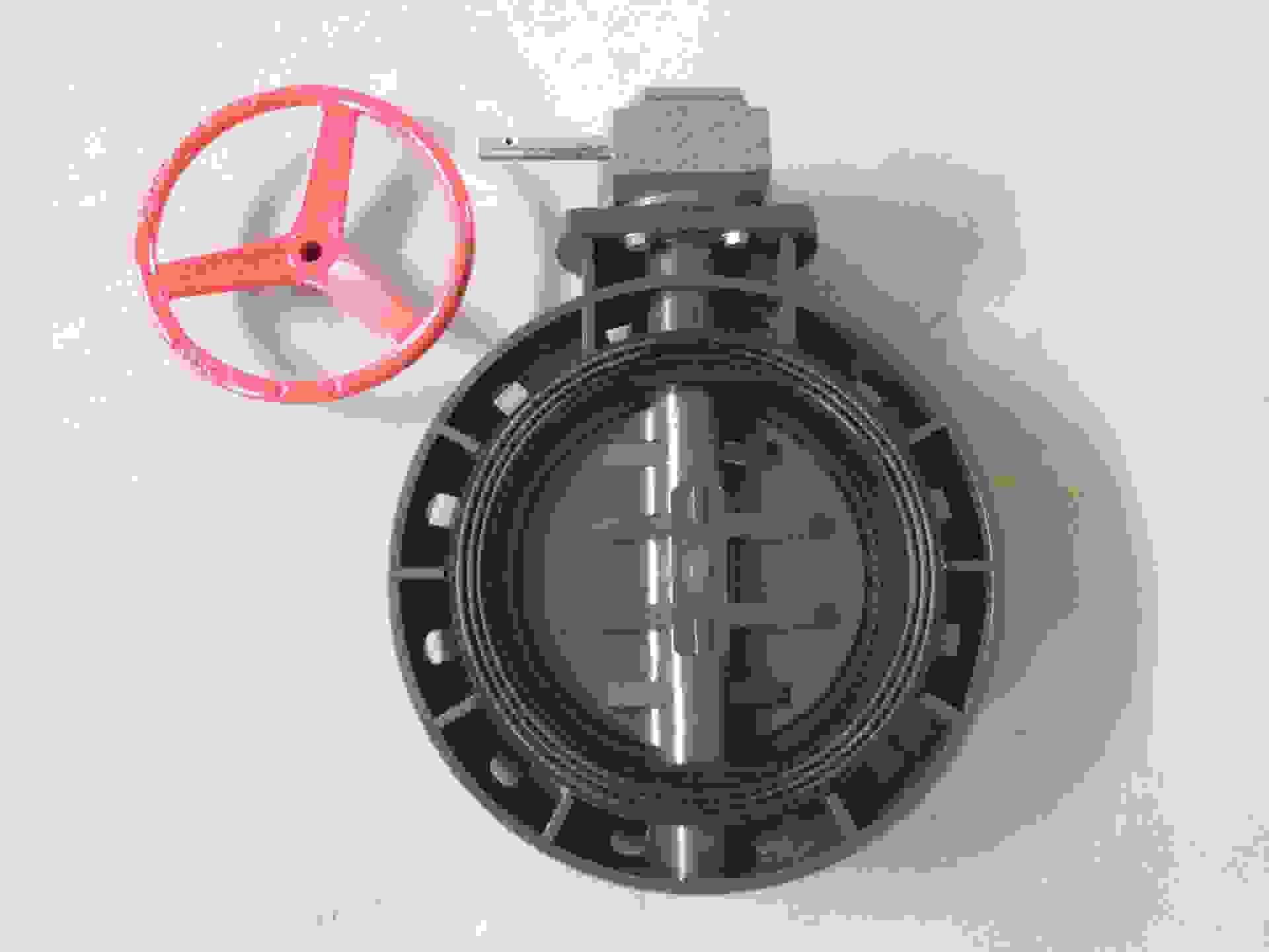 蜗齿式蝶阀 d371x-10s pvc 蝶阀 塑胶蝶阀 塑胶阀门 热销阀门图片