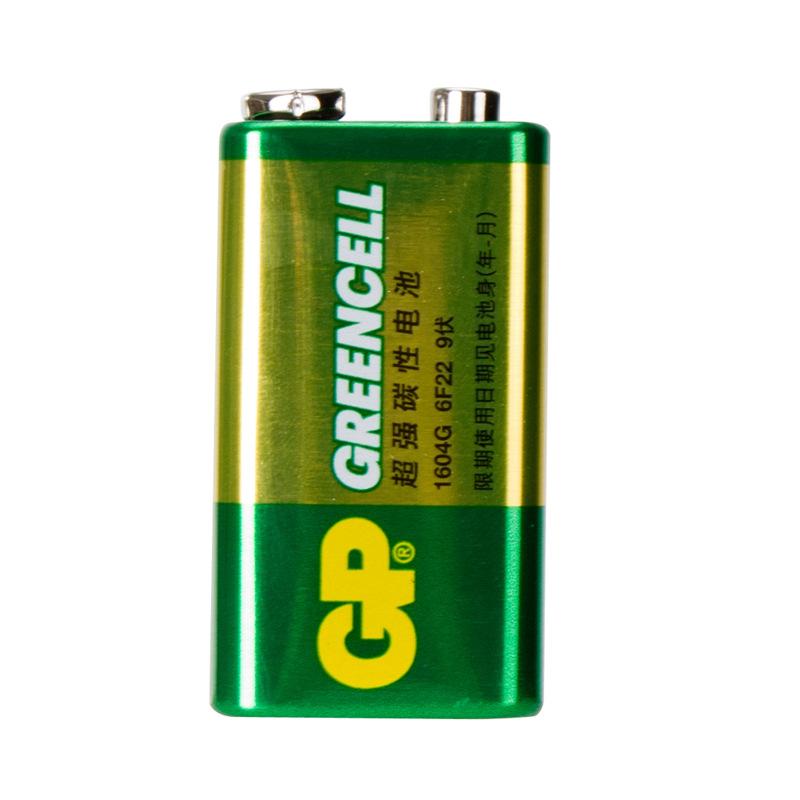 GP超霸9v方电池9v电池 万用表9v 电池 9v叠层1604g9伏电池方块电