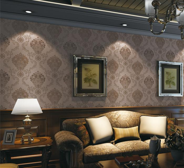 无缝墙布欧式现代简约风格壁布客厅卧室电视背景墙特价墙纸无纺布4图片