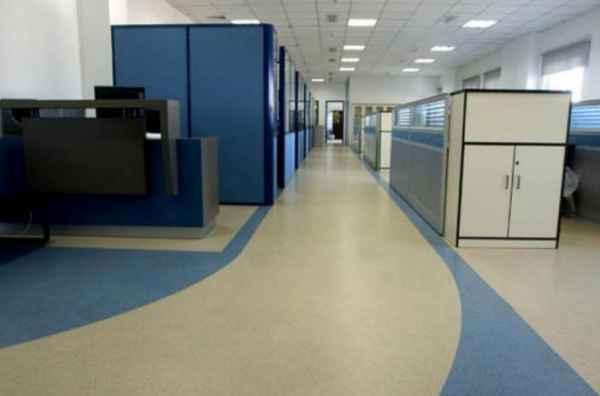 办公室PVC塑胶地板地面