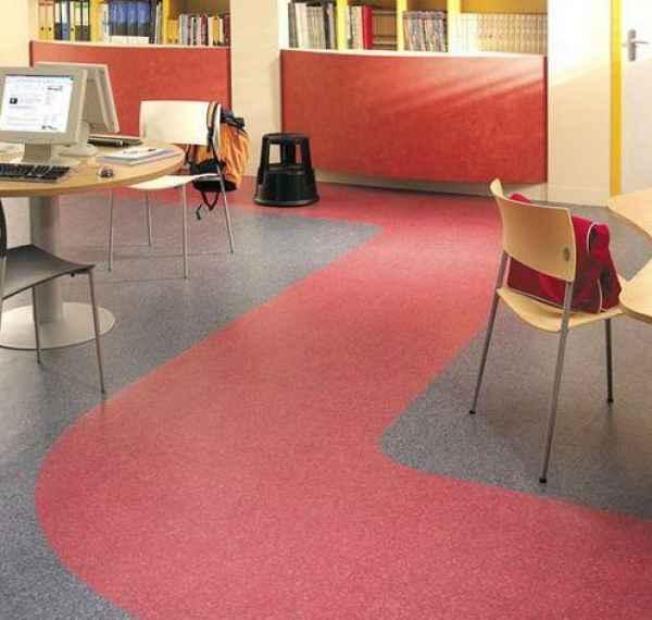办公PVC卷材地板地面