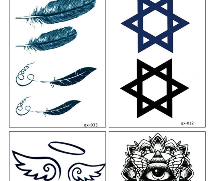 纹身贴纸怎么洗掉男防水龙小古代图腾女花纸凤凰女花纸蝴蝶