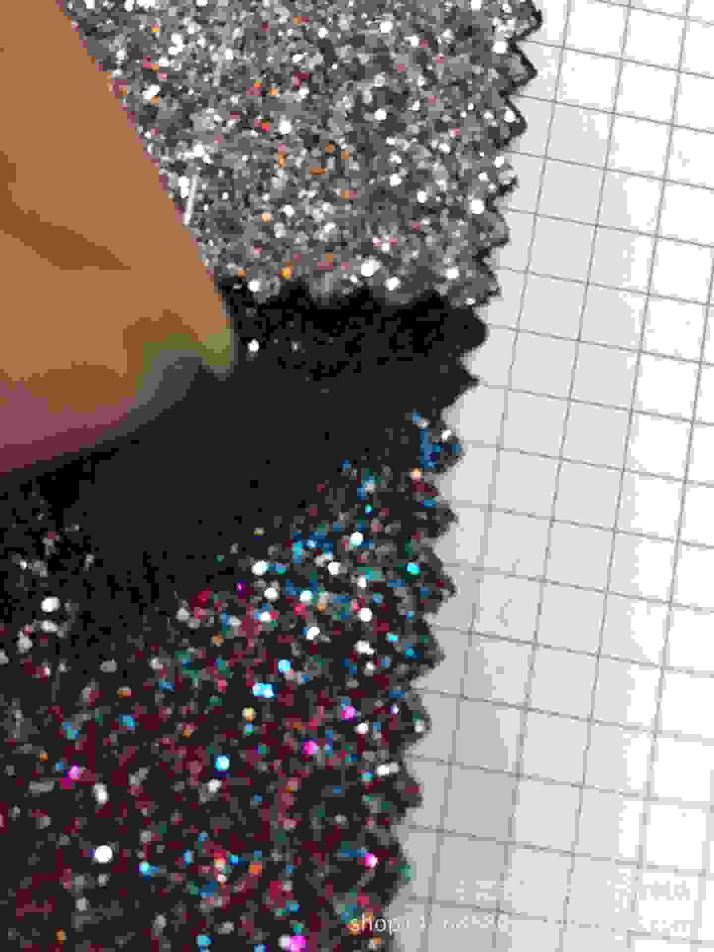 闪光防伪特殊厂家烟花金葱闪粉常规pu革皮革供应标签图片