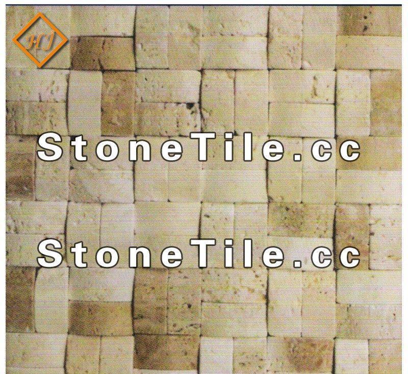 拼图马赛克墙面砖 天然大理石