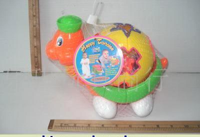 网袋实色局部喷漆拉线积木龟
