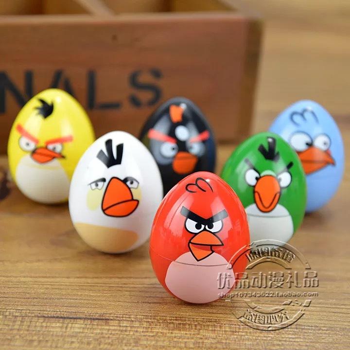 可爱儿童玩具印章 不倒翁卡通印章鸡蛋型愤怒的小鸟印章自带印泥图片