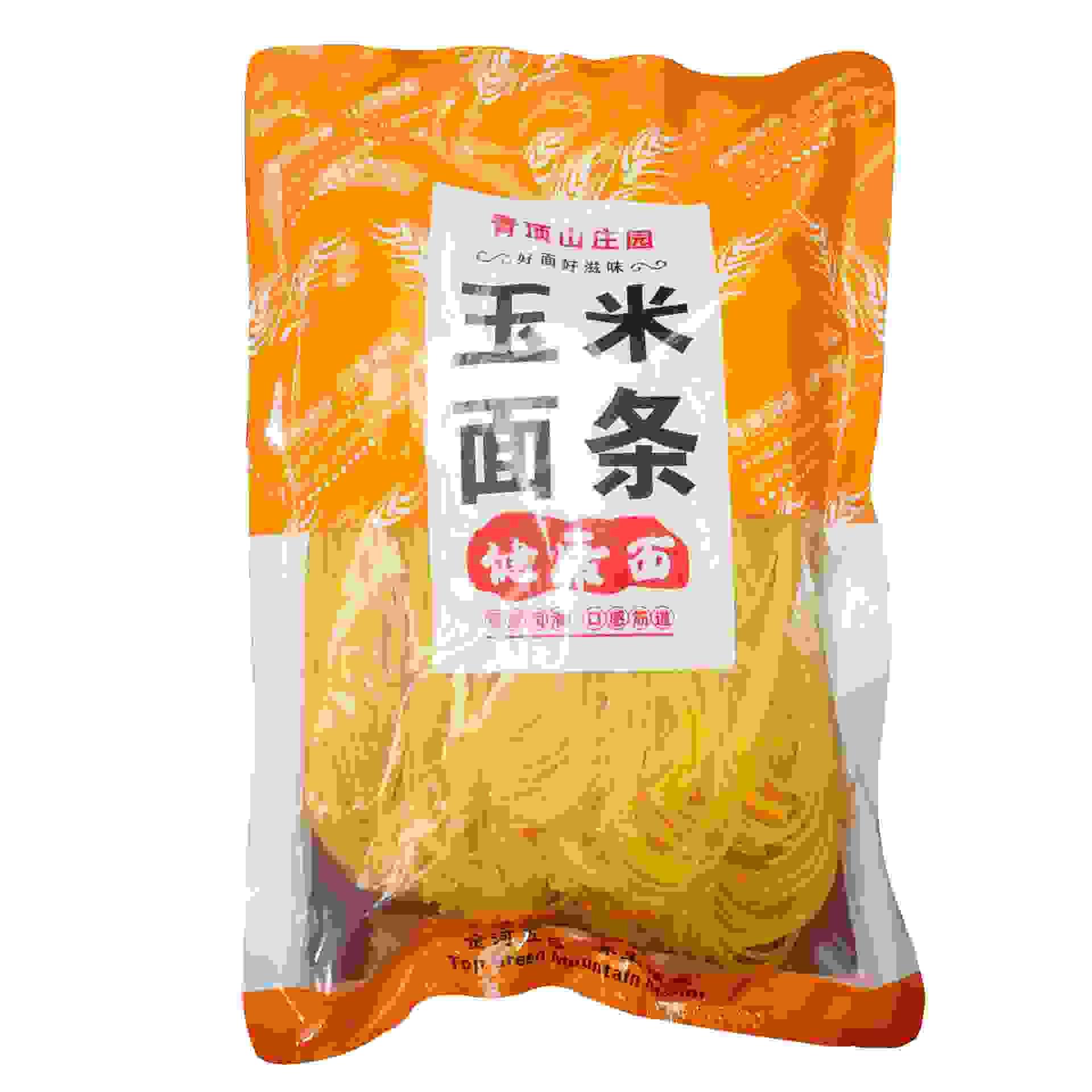 玉米面条500g无添加无防腐粗粮面  包邮0