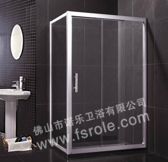 三联动门_淋浴房品牌出口热销铝合金三联动门r037方形淋浴房