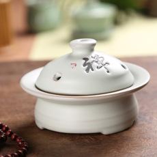 佛教用品陶瓷熏香器批发香道器具 茶道陶瓷香炉 家居摆设香炉