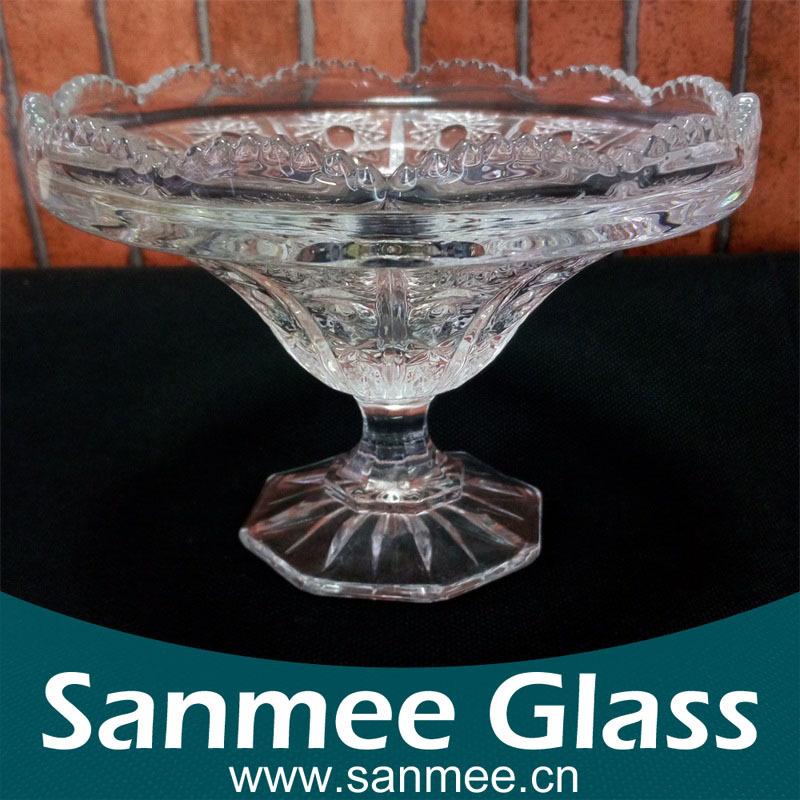 安徽三美玻璃厂直供精美高档冰淇淋杯 可验厂玻璃杯厂家 休闲吧