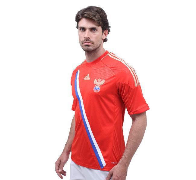 12-13欧洲杯球衣 俄罗斯主场球衣 正品足球服 队服