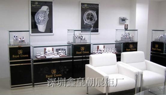 供应浪琴手表展柜,浪琴表柜台订做 免费设计订做手表展柜