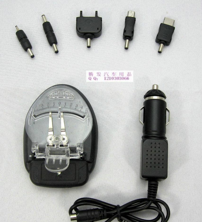 将手机电池置入电池充电器并夹住,调整正负极弹片,使弹片接触电池正负