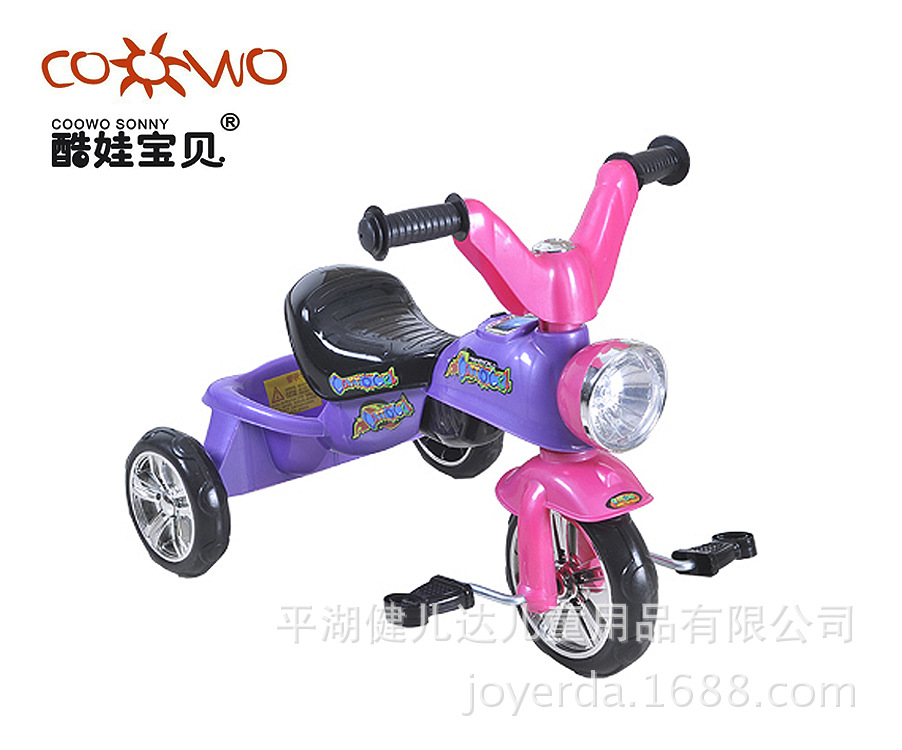 2014年新款儿童带音乐 带灯光脚蹬三轮车