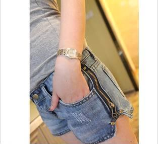 女士 牛仔裤 热裤(对内测试不对外销售)