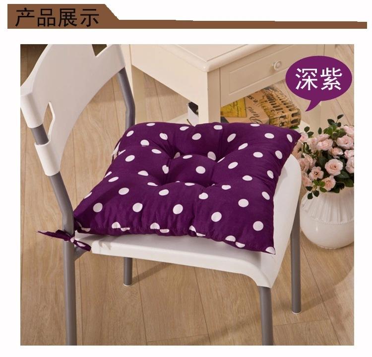 波点榻榻米坐垫 4眼椅子垫 加厚带绑带 餐椅坐垫座垫 定制logo图片