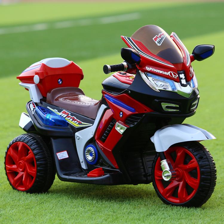 新款儿童电动摩托车三轮男女孩可坐大号童车双驱厂家批发一件代发