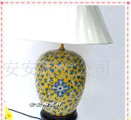 手绘陶瓷台灯 田园台灯2