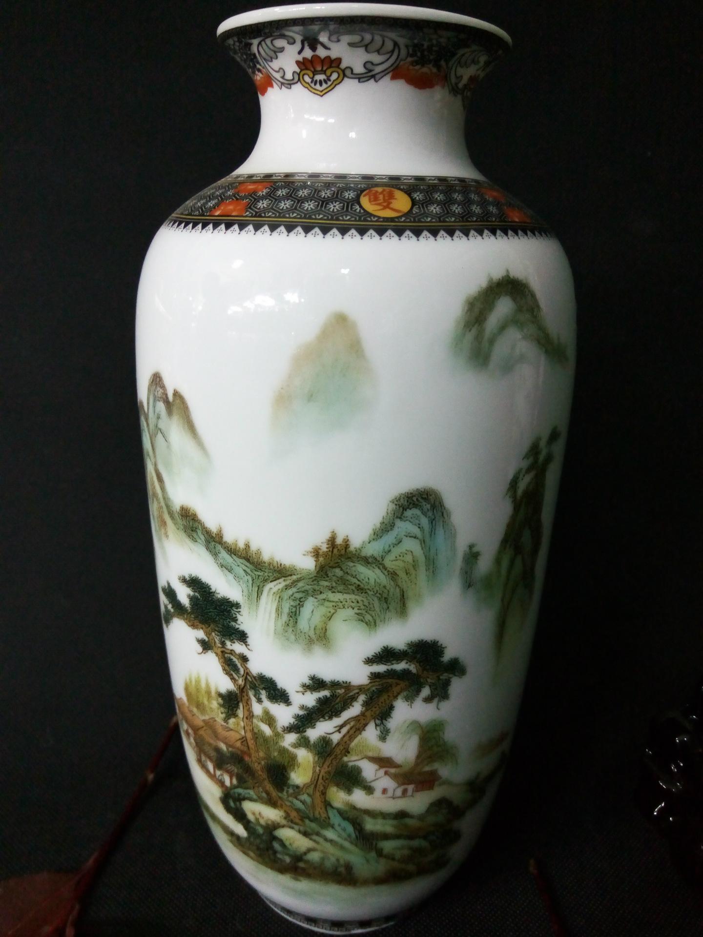 景德镇高档珐琅彩陶瓷三件套 家中复古摆件 佳节赠送佳品