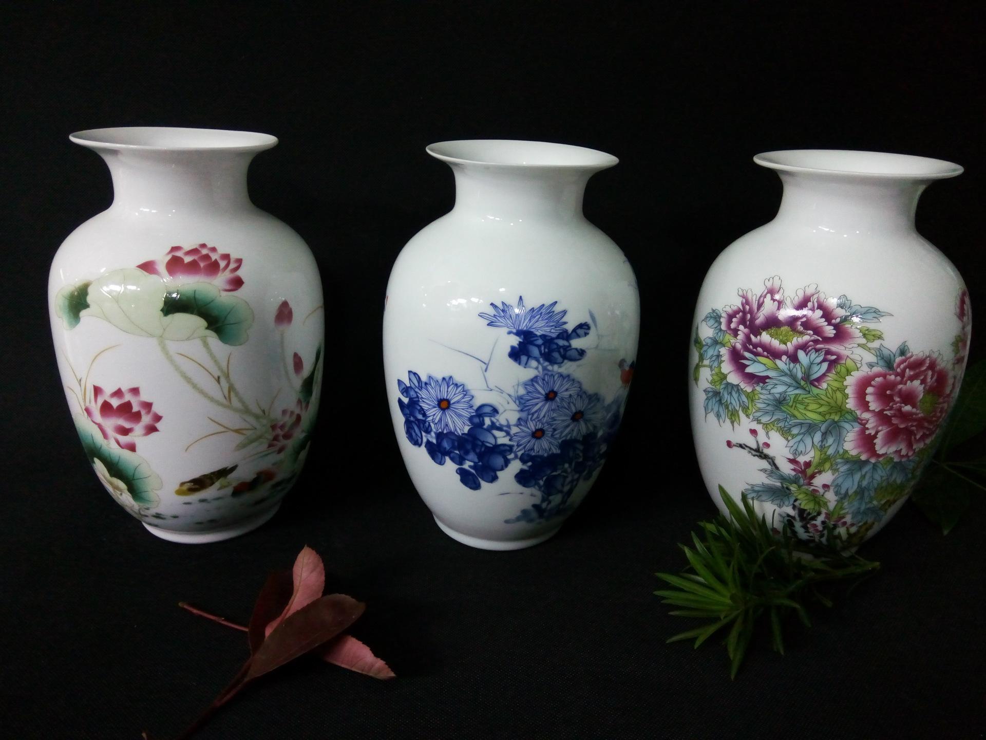 景德镇高档高白陶瓷 高白泥装饰陶瓷 佳节赠送佳品 陶瓷摆件