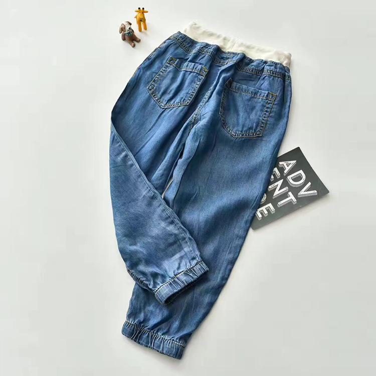 【天蚕丝!超薄超柔儿童水洗薄款牛仔裤男女童