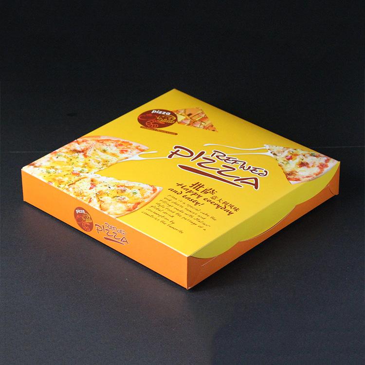 批发定做批萨包装盒 环保匹萨盒 多规格pizza盒 外卖打包披萨纸盒