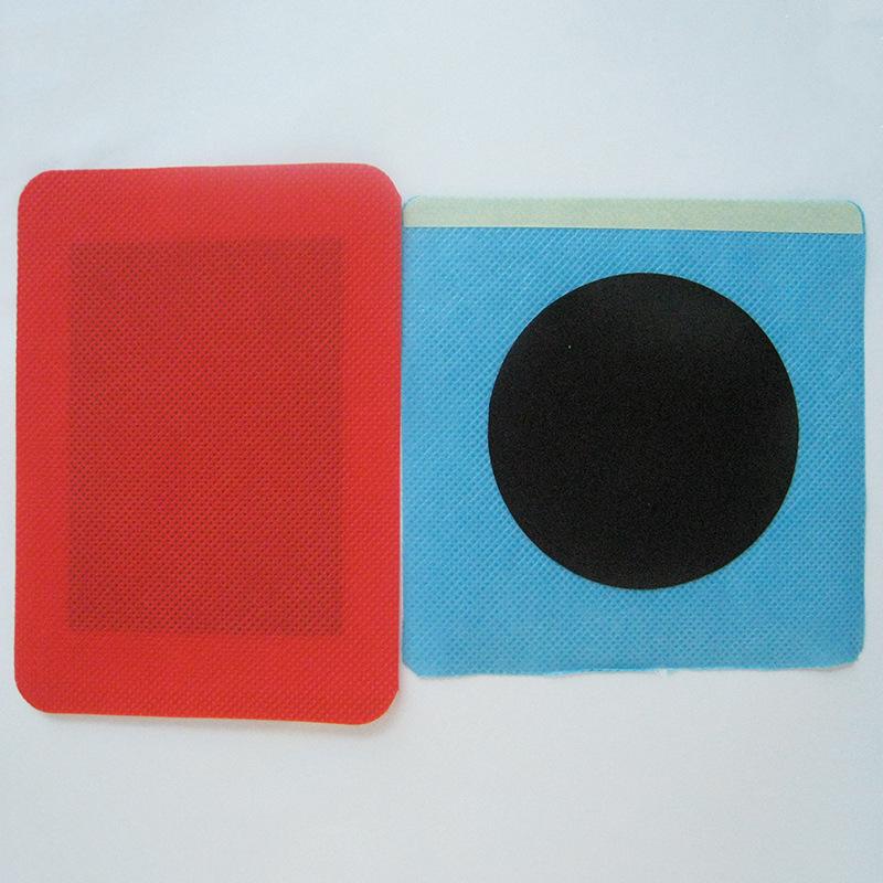 厂家直销OEM加工定制各种规格尺寸红色蓝色彩布圆形方形膏药