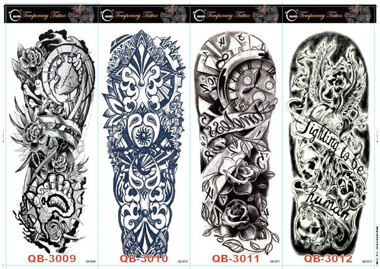 新款大花臀纹身贴纸 个性纹身贴纸 卡通水转印纹身贴纸 欧美热销