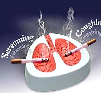 有办法吗?这款烟灰缸是以人体的肺叶造型打造,乍看之下令人触目惊心!图片