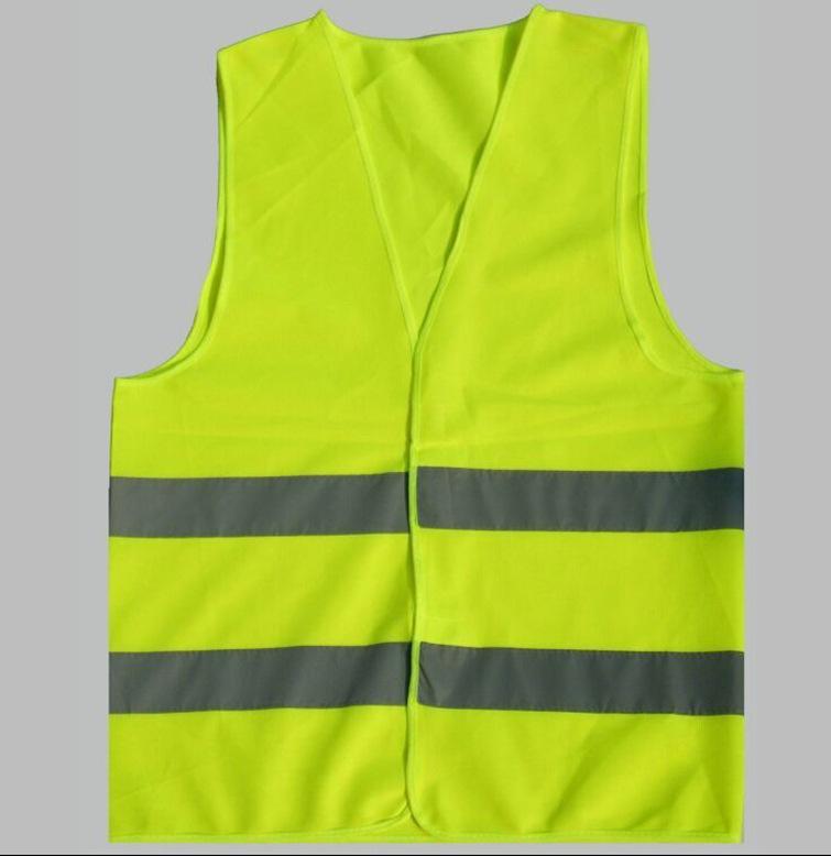 厂家直销90GSM荧光黄反光衣 现货反光马夹 现货出口反光背心