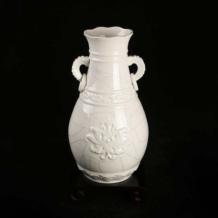 供应热销 千瓷阁古莲观音瓶 中式观音瓶工艺品陶瓷瓶直销