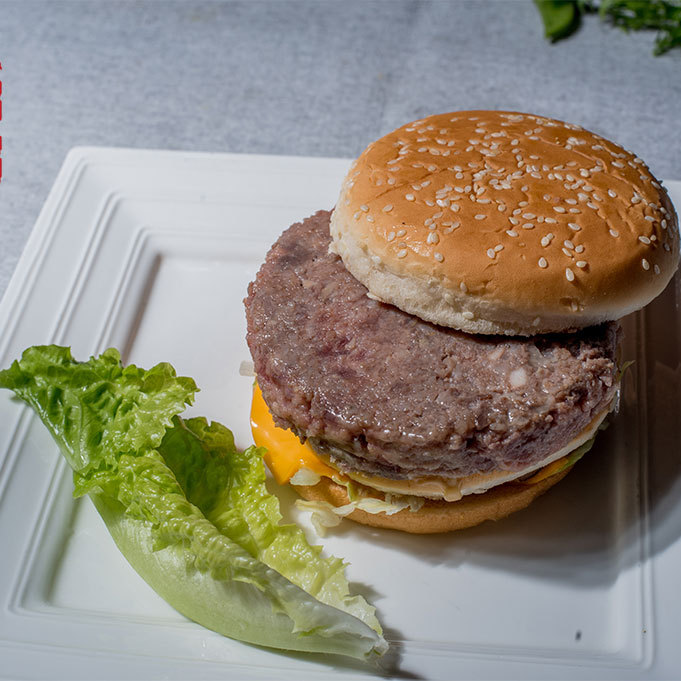尚好菜 供应汉堡扒 肉馅扒 快餐餐饮行业适用 方便食用