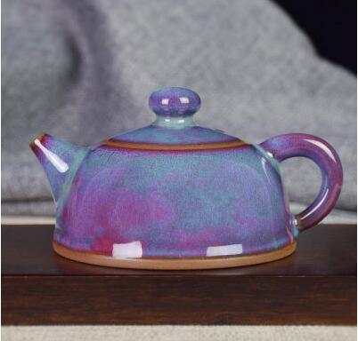 钧瓷茶壶 禹州神垕钧窑功夫茶具 家用办公可与杯搭配整套